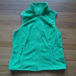 L.L. Bean Polartec Fleece Vest Green Large EUC